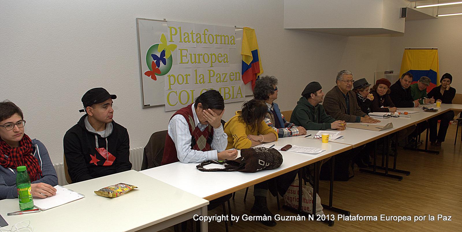 La plataforma europea por la paz en Colombia ha dado hoy un paso más con el lanzamiento que de ella se hizo en Neuchâtel, Suiza.