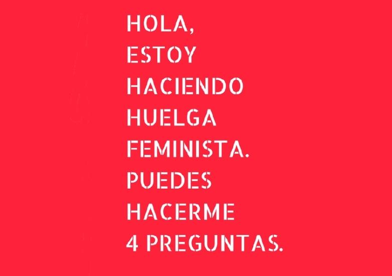 [Libro] Hola, estoy haciendo huelga feminista. Puedes hacerme 4 preguntas.
