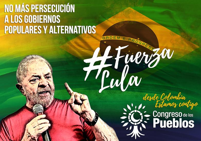 """[Comunicado] """"Respaldo a Lula Da Silva y al pueblo de Brasil"""""""