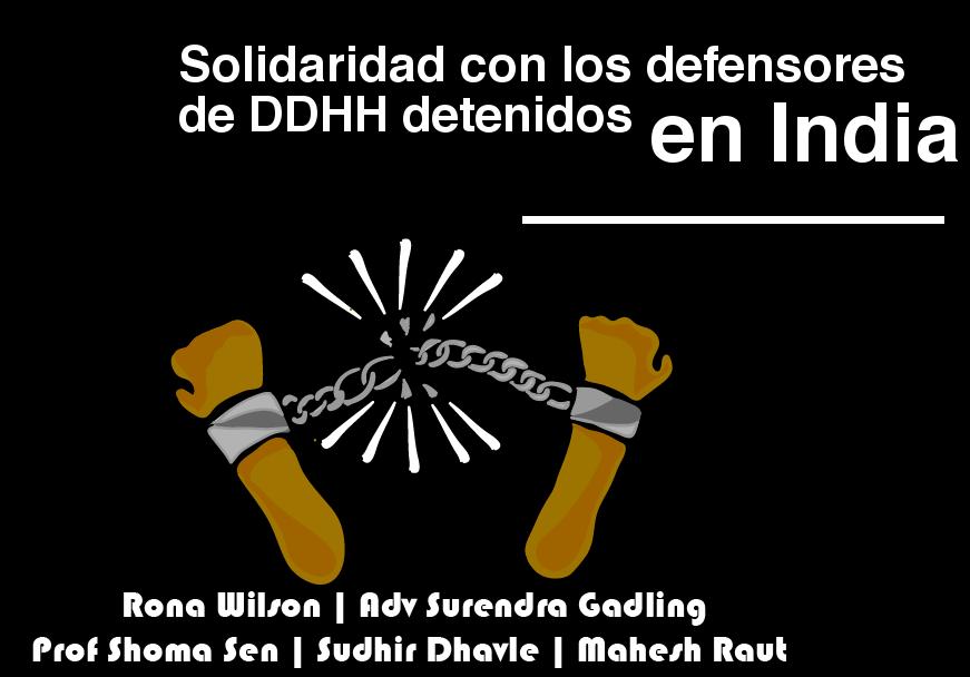 Repudio a las detenciones de activistas y defensores de derechos humanos en India